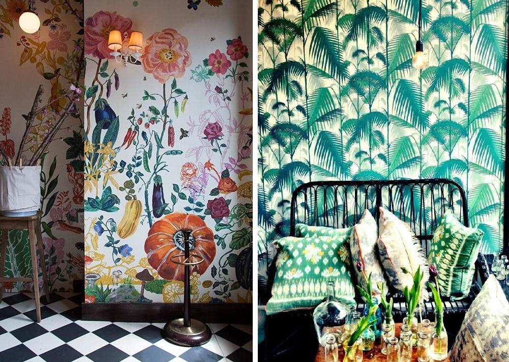 Stampe botaniche un magico eden fra le pareti domestiche for Carta da parati etnica