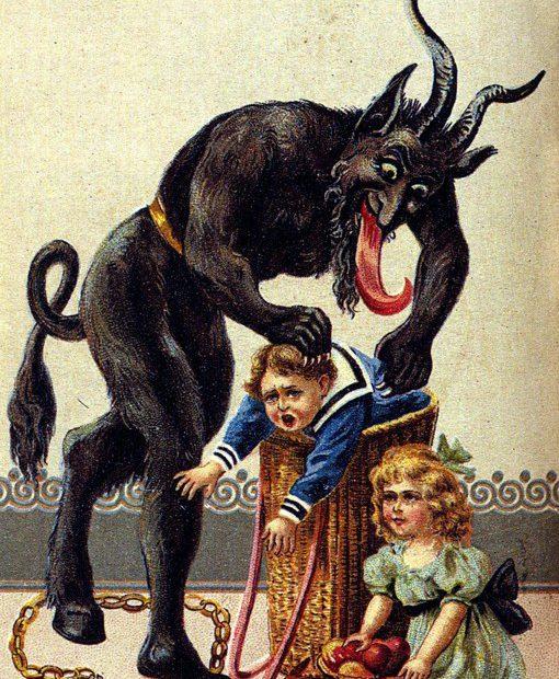 krampus cartolina 1900