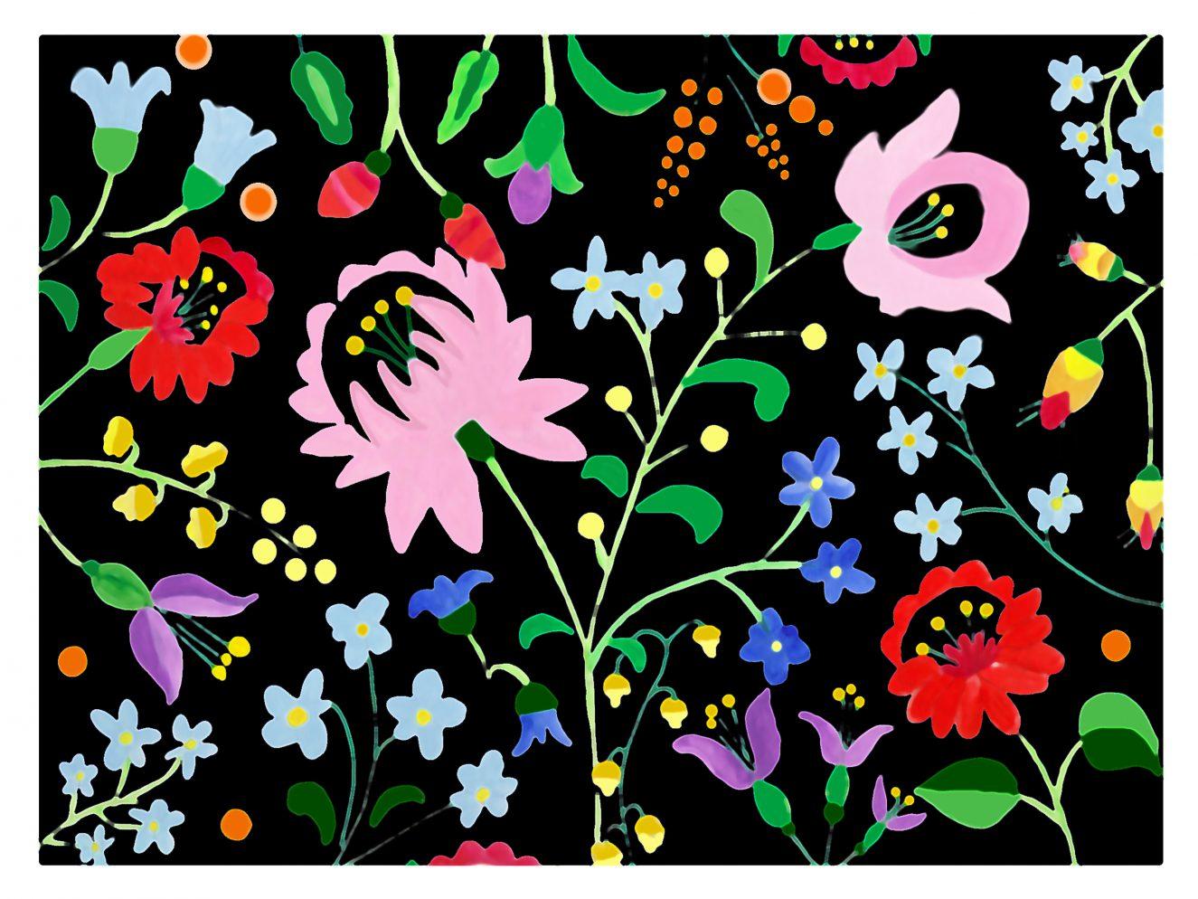 folk-flowers