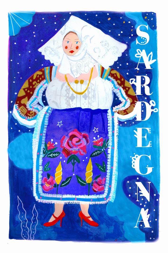 Folk costume illustration