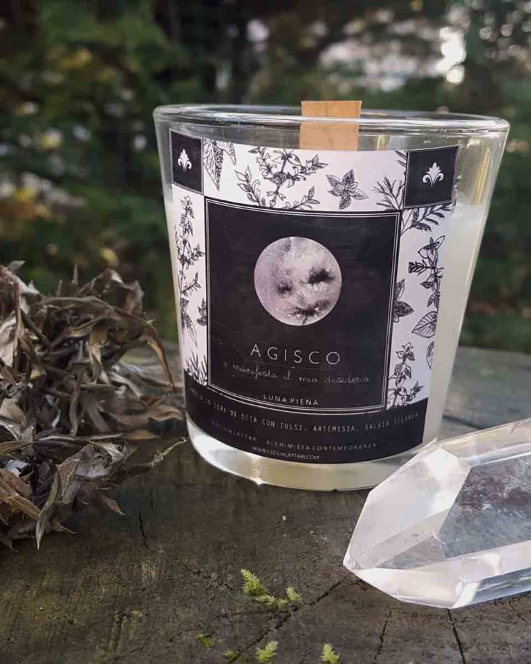 illustrazione etichetta candele