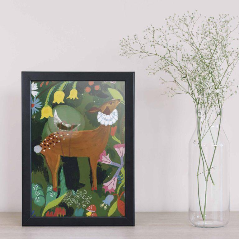 cervo illustrazione