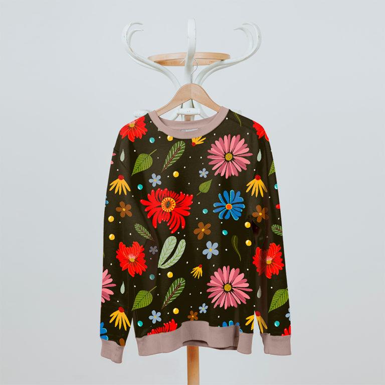 maglione con pattern folk 2