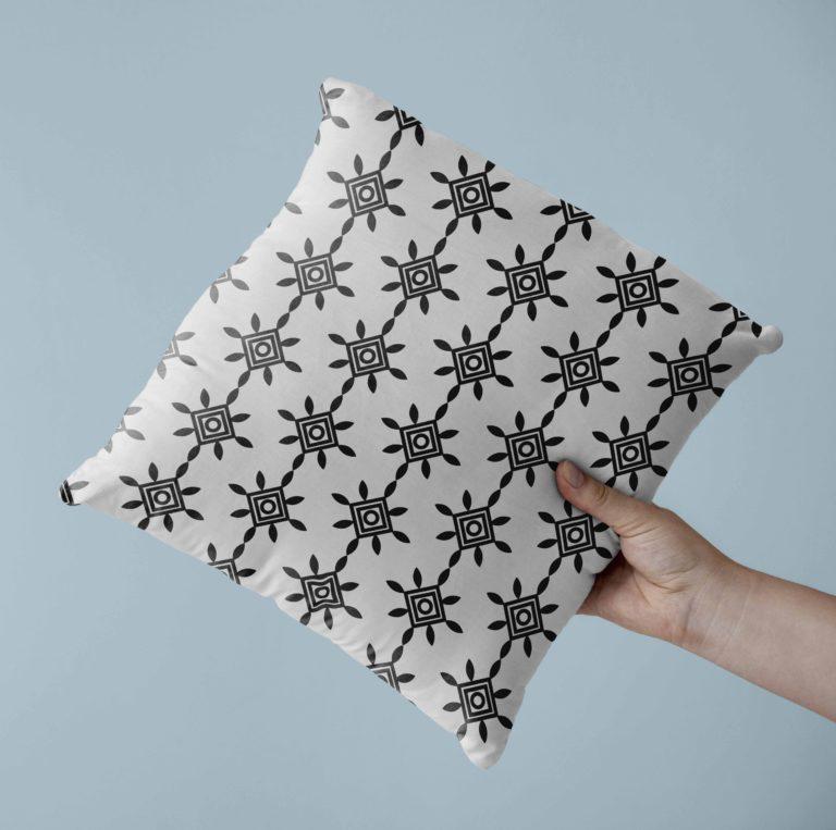 cuscino con motivo personalizzato