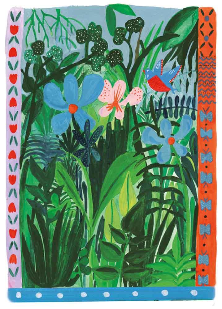 """Illustrazione per libro """"Dreamtime, un fantastico viaggio in Australia"""", Biblioteca di Portogruaro"""