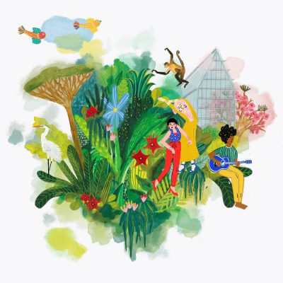 Island - Illustrazione editoriale